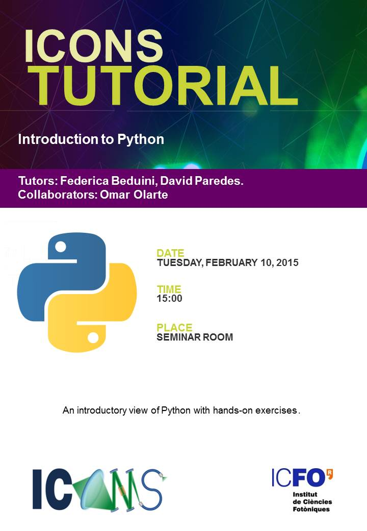 hands on python tutorial Python here, python there, python everywhere join many successful students who have decided to learn python and boost their careers using this 100 this hands-on training takes you from hello world to advanced python topics in just a few hours first, you will learn and practice every python.